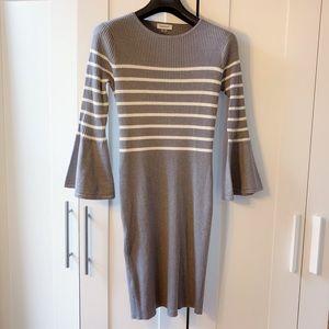 Calvin Klein Bell Sleeves Knit Sweater Dress